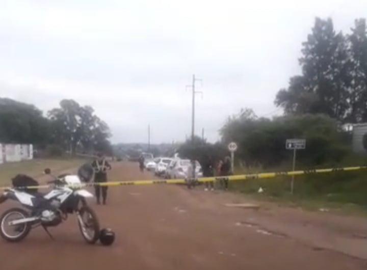 """Informe Oficial: """"mujer baleada con arma de fuego, en estos momentos declara en fiscalía el agresor""""."""