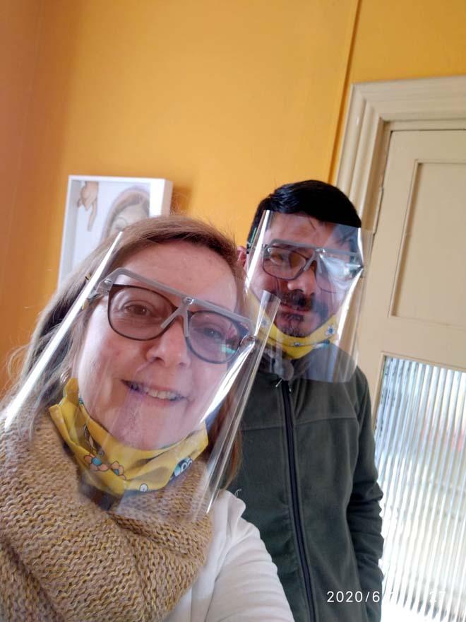 Club de Leones Salto los Azahares y Fundación Leones del Uruguay donaron máscaras sanitarias fabricadas en impresoras 3D